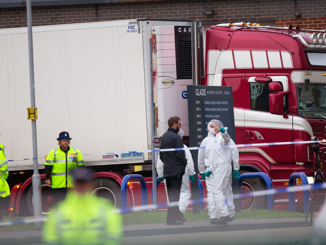 UK police find 39 bodies in semi truck, but no one knows where they came from