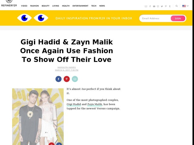 Gigi Hadid & Zayn Malik Once Again Use Fashion To Show Off Their Love
