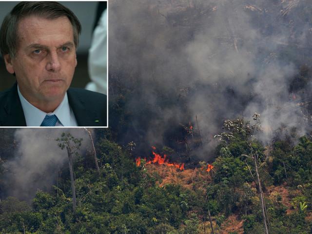 Brazilian President Jair Bolsonaro may send troops to battle Amazon fires