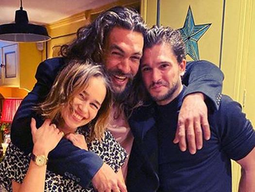 Emilia Clarke Celebrates Her Birthday with Jason Momoa & Kit Harington!