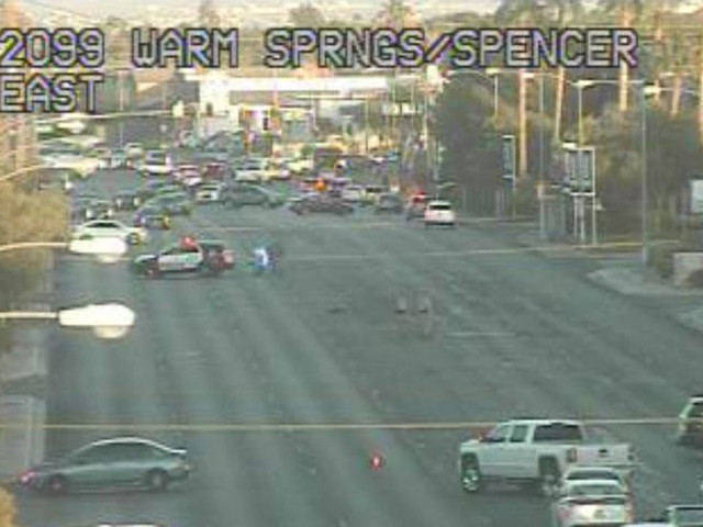 Bicyclist critically hurt in crash with SUV in Las Vegas