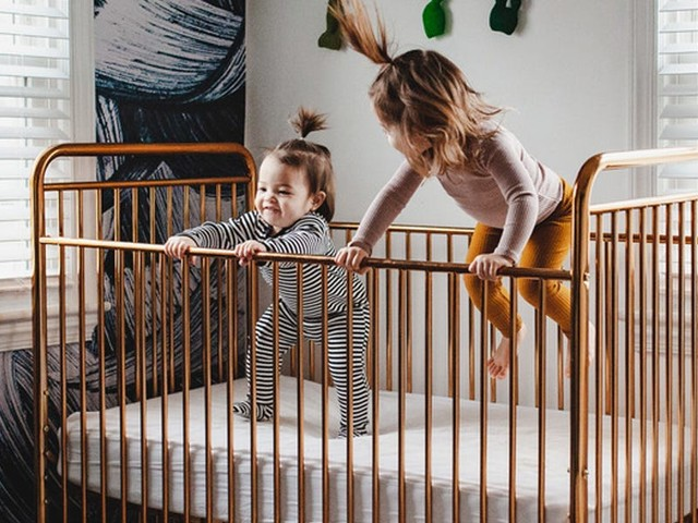 This convertible crib exceeds national safety standards and looks good — it's the perfect piece if you want something that you can convert to a toddler or day bed