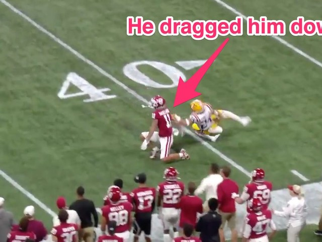 Twitter roasted the College Football Playoff officials after an awful missed pass interference call added insult to Oklahoma's injury