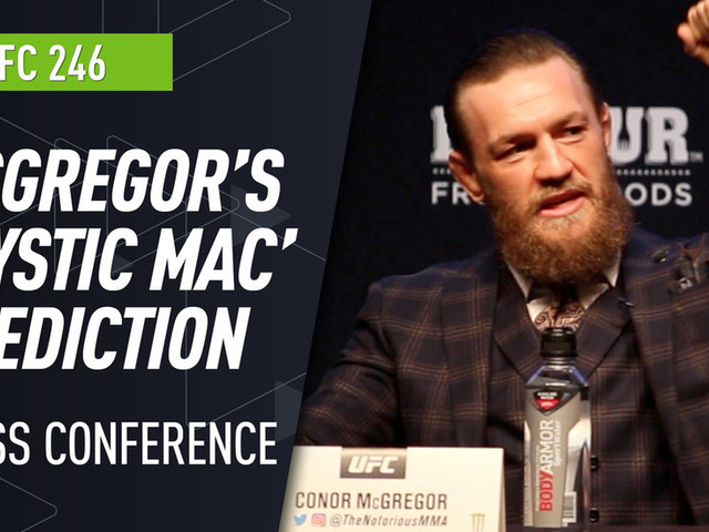 Conor McGregor on UFC 246 test: 'I can read Donald like a children's book'