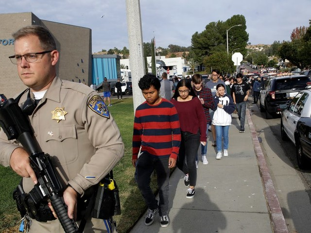 2 students are dead and 3 are injured after a high-school shooting in Santa Clarita, California. The gunman is also in 'grave' condition.