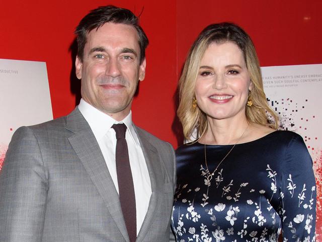 Jon Hamm & Geena Davis Premiere 'Marjorie Prime' in NYC