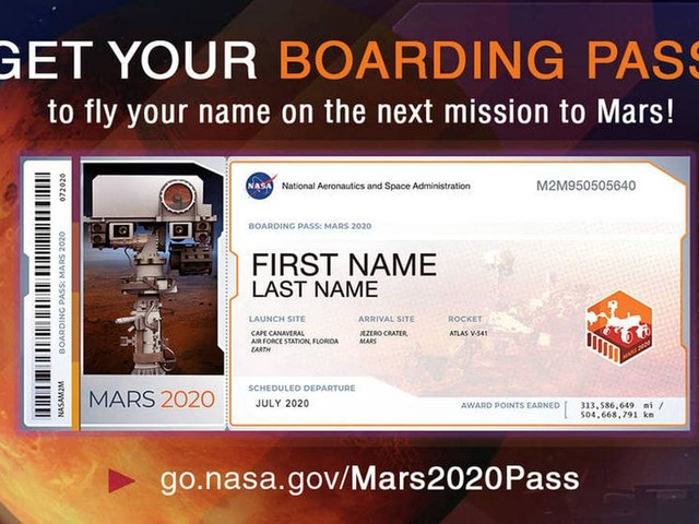 NASA Invites Public to Submit Names to Be Displayed on Next Mars Rover