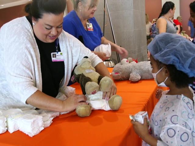 Children fill Centennial Hills Hospital for Teddy Bear Clinic