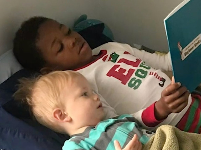 Couple discovers that their adopted son's sibling is up for adoption. So they adopt that baby, too.