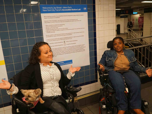 MTA pilots accessibility features at Downtown subway station