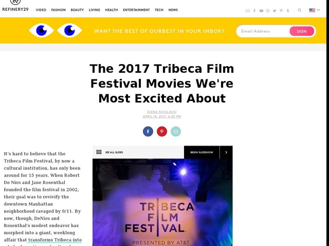 The 2017 Tribeca Film Festival Movies We're Most Excited About