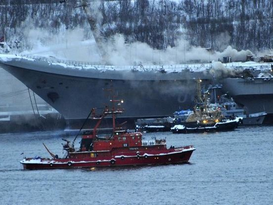 Russia's Only Aircraft Carrier Has Erupted In Flames