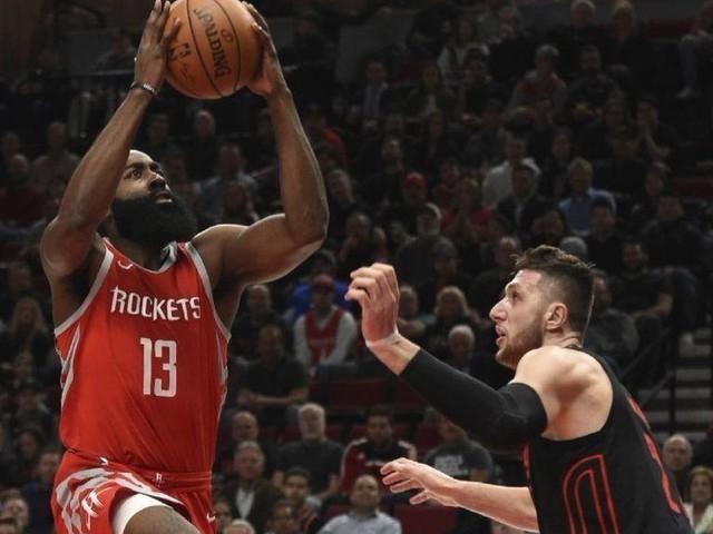 NBA: James Harden, Rockets halt Trail Blazers' streak