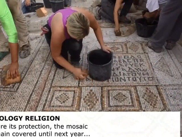 Archaeologists find mosaic in Israel likely showing Jesus' miracle of the loaves and fishes