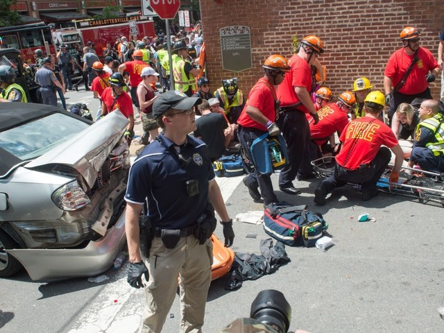 Charlottesville Rally: 3 Dead After Car Rams Into Crowd Of Protesters, Helicopter Crashes