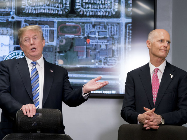 Tweeting from Florida, Trump links FBI's missteps on shooting suspect tip to Russia investigation