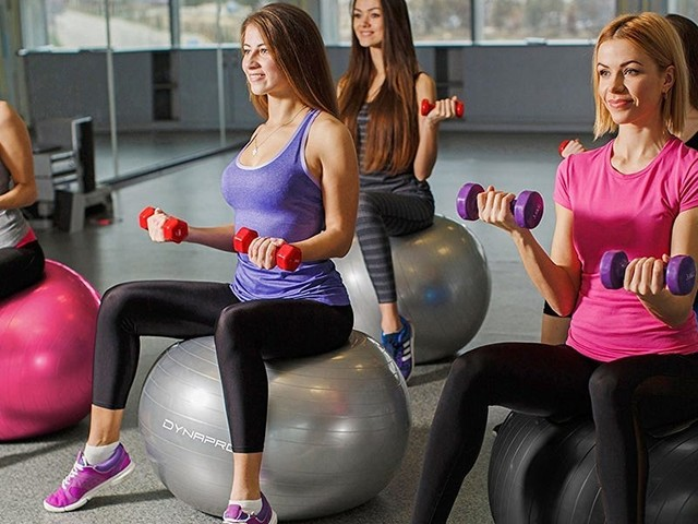 The 4 best exercise balls we tested in 2021