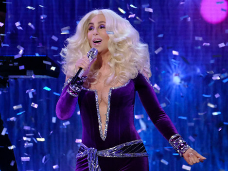 Cher, 73, Rocks Plunging Purple Jumpsuit & Performs 'Waterloo' On 'AGT' Finale