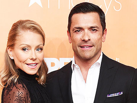 Kelly Ripa Jumps On Husband Mark Consuelos' Lap In Adorable Family Christmas Card — Pic