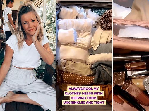 Travel blogger Hayley Andersen Haylsa reveals what she packs inside her suitcase