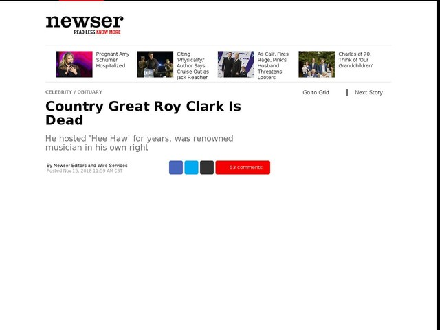 Country Great Roy Clark Is Dead