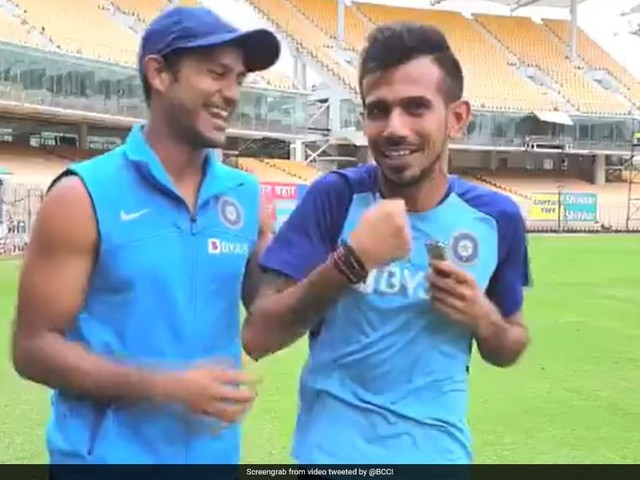 """""""Just Come From The Gym"""": Chahal Trolls Mayank For 'Showing Off' Biceps"""