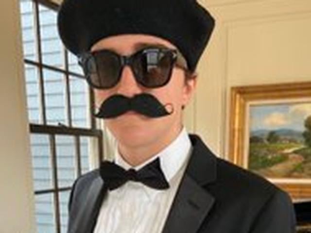 Mitt Romney's grandson dresses as Pierre Delecto for Halloween