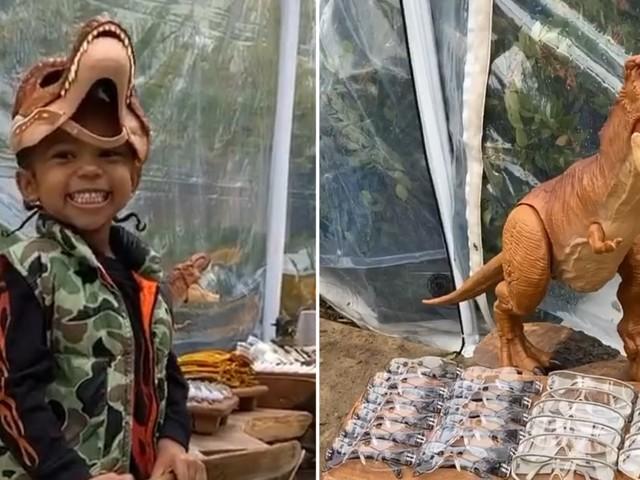 Kim Kardashian's Dinosaur-Themed Birthday Party For Saint Is a Prehistoric Dream