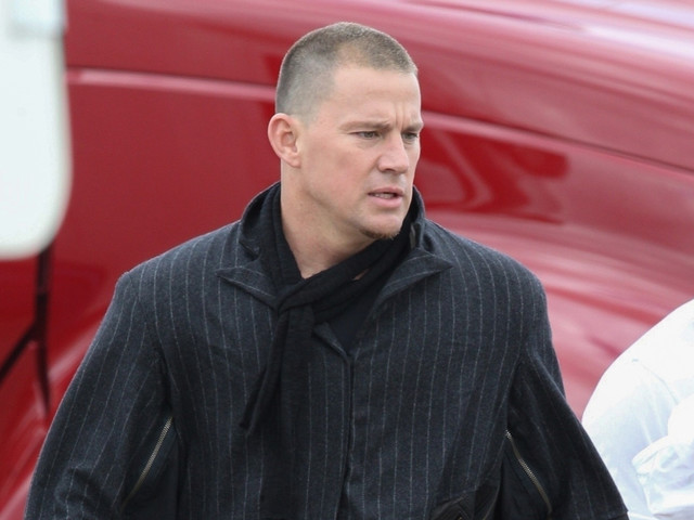 Channing Tatum Wears All Black While Shooting New Project in Boston