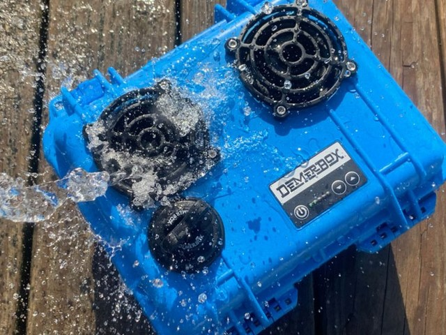 I tried the DemerBox, a crisp and bassy, yet nearly indestructible speaker system built into a Pelican case — I couldn't find a single thing wrong with it
