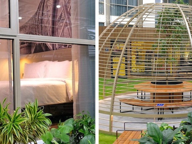 Singapore built the world's first bubble facility so people can travel for business without having to quarantine — and it's in an expo center. We got a sneak peak of the rooms, facilities, and food.