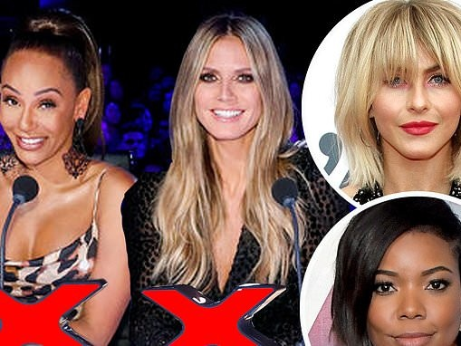 Heidi Klum and Mel B AXED from America's Got Talent, replaced by Gabrielle Union and Julianne Hough