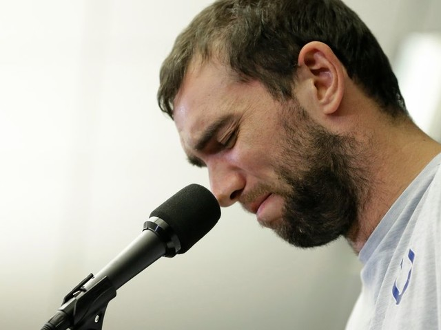 NFL star Andrew Luck is retiring and hey, let's focus on the nice stuff