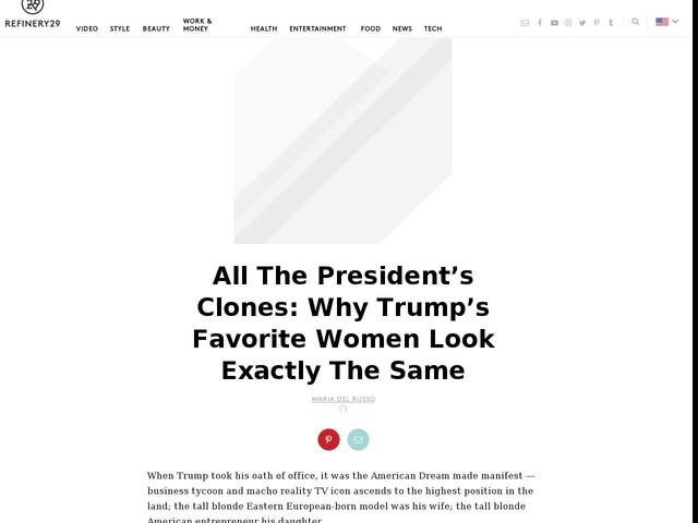 All The President's Clones: Why Trump's Favorite Women Look Exactly The Same