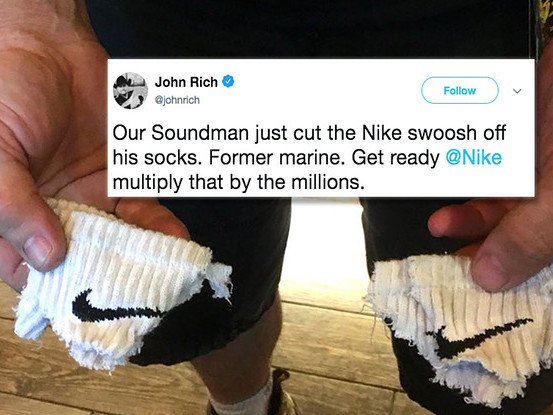 People Are Actually Destroying Their Nikes After Colin Kaepernick Was Featured In An Ad