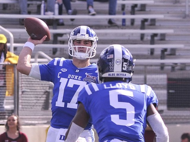Duke's Daniel Jones might've finalized an NFL Draft case in Independence Bowl
