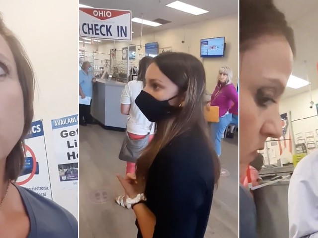 Video shows maskless 'Karen' refusing to leave DMV—despite having no reason to be there