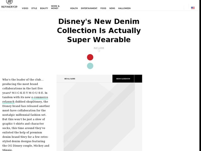 Disney's New Denim Collection Is Actually Super Wearable