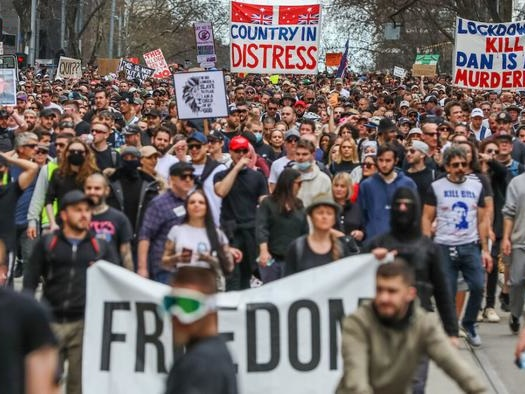 """Aussie Cops Pledge To Unleash """"Full Force"""" As Large Anti-Lockdown Protests Turn Violent"""
