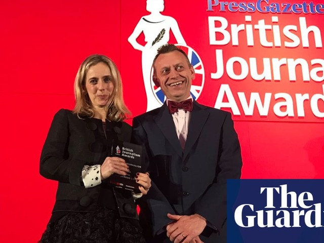 Guardian scoops three prizes at the British Journalism Awards
