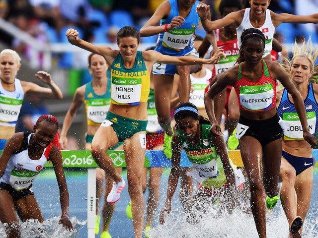 Here's how steeplechase - the wackiest event in track and field - came to get its name and water jumps