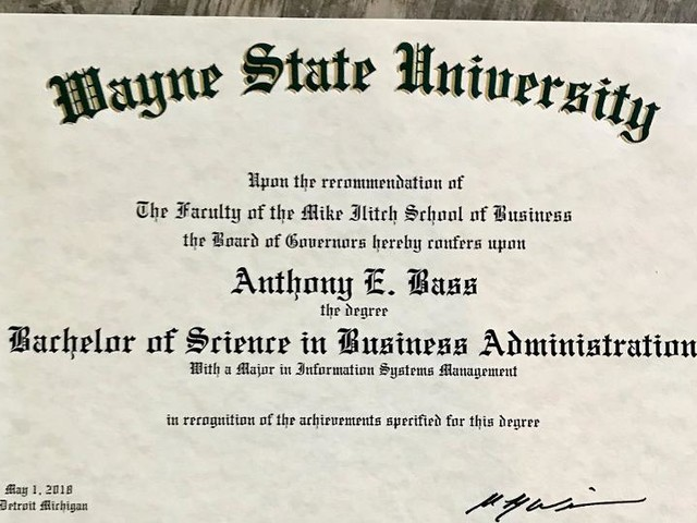 It took 10 years, but Bass earns college degree