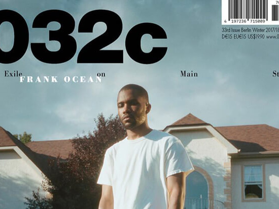 Frank Ocean Dazzles On The Cover Of '032c' Winter Edition
