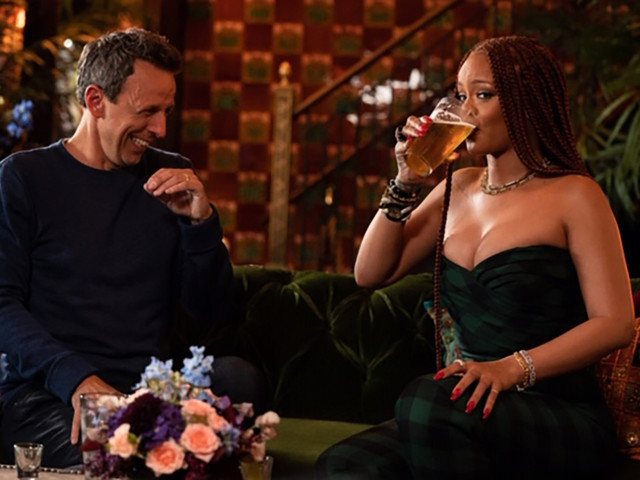Rihanna went on day-drinking 'prom date' with Seth Meyers