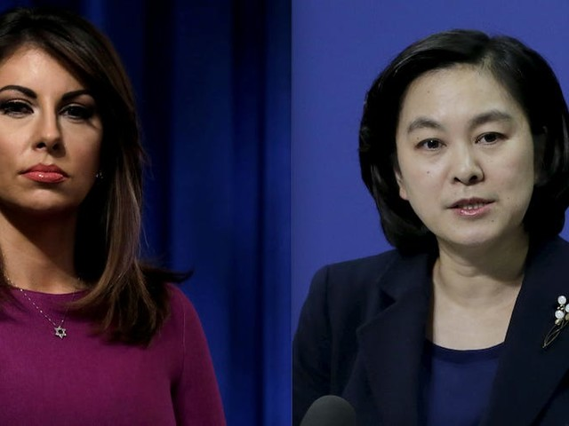 US and Chinese government spokeswomen are battling it out in an online war of words over the coronavirus