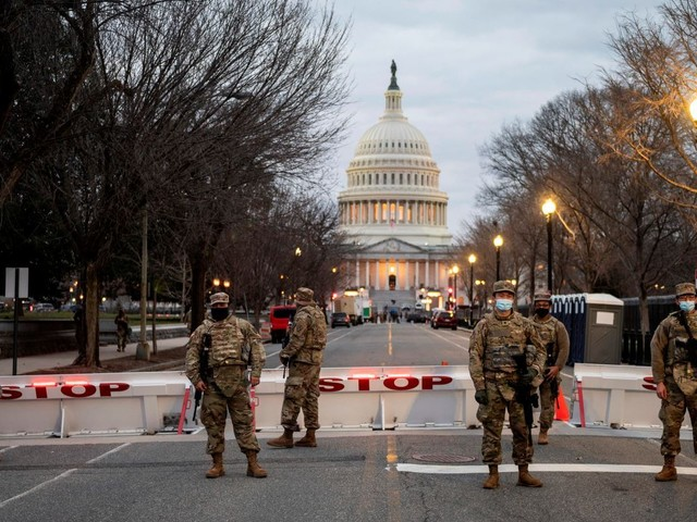 National Guard Troops Being Vetted As They Arrive To Guard US Capitol