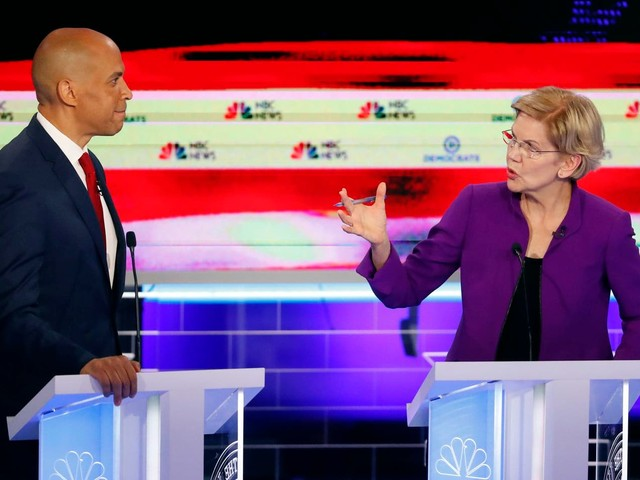 Democratic presidential candidates engage in 'arms race to the left' in first debate