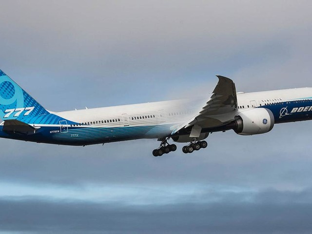 Boeing's 777-9X airplane takes first flight