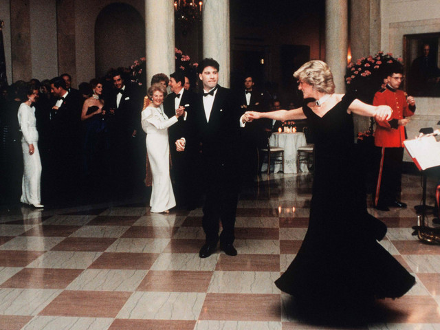 The dress Princess Diana wore to dance with John Travolta is up for auction