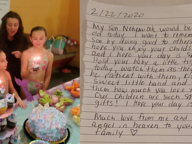 Woman, who lost her son, remembers him by paying it forward to other mother